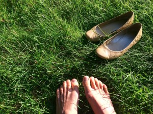 "A ""Why Not"" moment when I took off my shoes and felt the dew on the grass before going to my classes for the day."