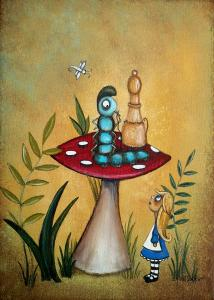 alice-in-wonderland-art-alice-and-the-caterpillar-charlene-murray-zatloukal